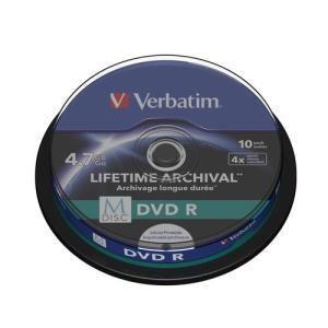 Verbatim dvd r 4 7 gb 4x 10 pcs printable