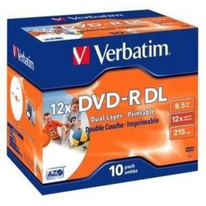 Verbatim DVD-R DL 8.5 GB 12x (10 pcs) Printable