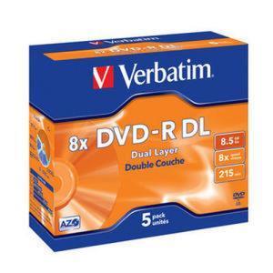 Verbatim dvd r dl 8 5 gb 8x 5 pcs