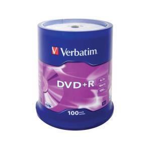 Verbatim DVD+R 4.7 GB 16x (100 pcs cakebox)