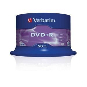 Verbatim DVD+R 4.7 GB 16x (50 pcs cakebox)