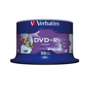 Verbatim DVD+R 4.7 GB 16x Printable (50 pcs)