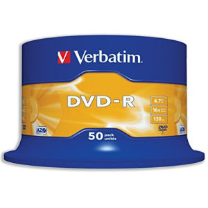 Verbatim DVD+R 4.7 GB (50 pcs)