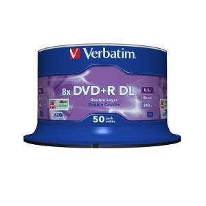 Verbatim DVD+R DL 8.5 GB 8x (50 pcs)
