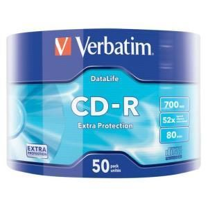 Verbatim Extra Protection CD-R 700 MB 52x (50 pcs)