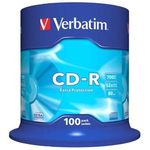 Verbatim Extra Protection CD-R 80 Min. 52x (100 pcs)
