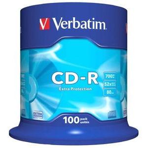 Verbatim extra protection cd r 80 min 52x 100 pcs