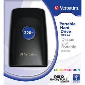 Verbatim Portable Hard Drive Colour Edition 320 GB