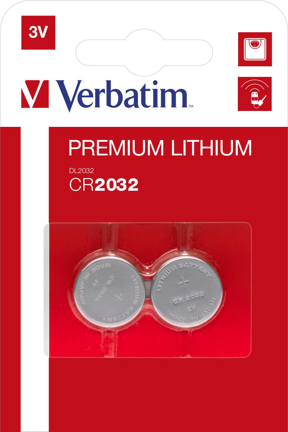 Verbatim Premium Lithium CR2032 (2 pz)