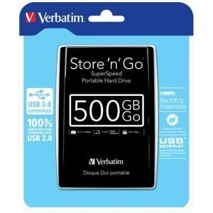 Verbatim store n go portable usb 3 0 500gb