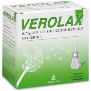 Angelini Verolax adulti soluzione rettale 6 clismi 6,75g