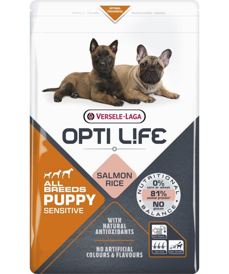 Versele-Laga Opti Life Puppy Sensitive All Breeds (Salmone) - secco