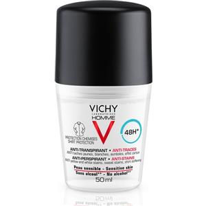 Vichy Homme Deodorante Antitranspirante 48h Mineral Anti-Macchie Roll-on 50ml