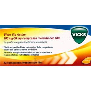 Procter & Gamble Vicks flu action 12 compresse 200+30mg